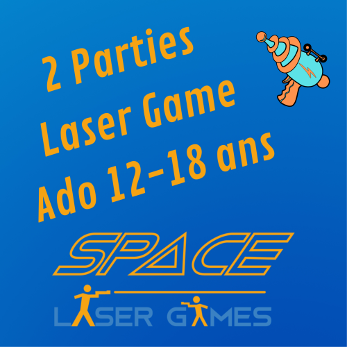 2 games of Laser Games: Teenager 13 - 18 years old / Students up to 25 years old