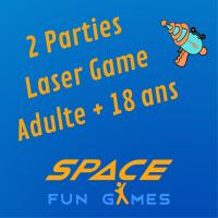 2 parties de Laser Games: Adulte +18 ans
