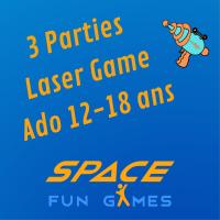3 parties de Laser Games: Ado 13 - 18 ans / Etudiant < 25 ans