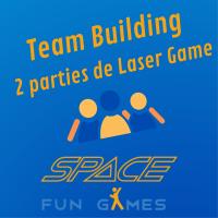 2 spellen van laserspellen - Teambuilding