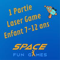 1 partie de Laser Game : Enfant 7 - 12 ans