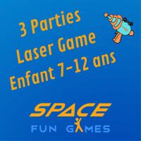 3 parties de Laser Games: Enfant 7 - 12 ans